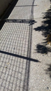 Another view of the shadow created by the fencing along Pratt Street.